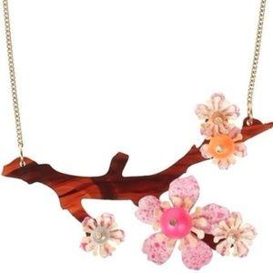 Tatty Devine Cherry Blossom Sprig Necklace neon